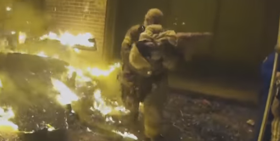 Firefighter Makes Unbelievable Catch as Mother Throws Her Child From Burning Building
