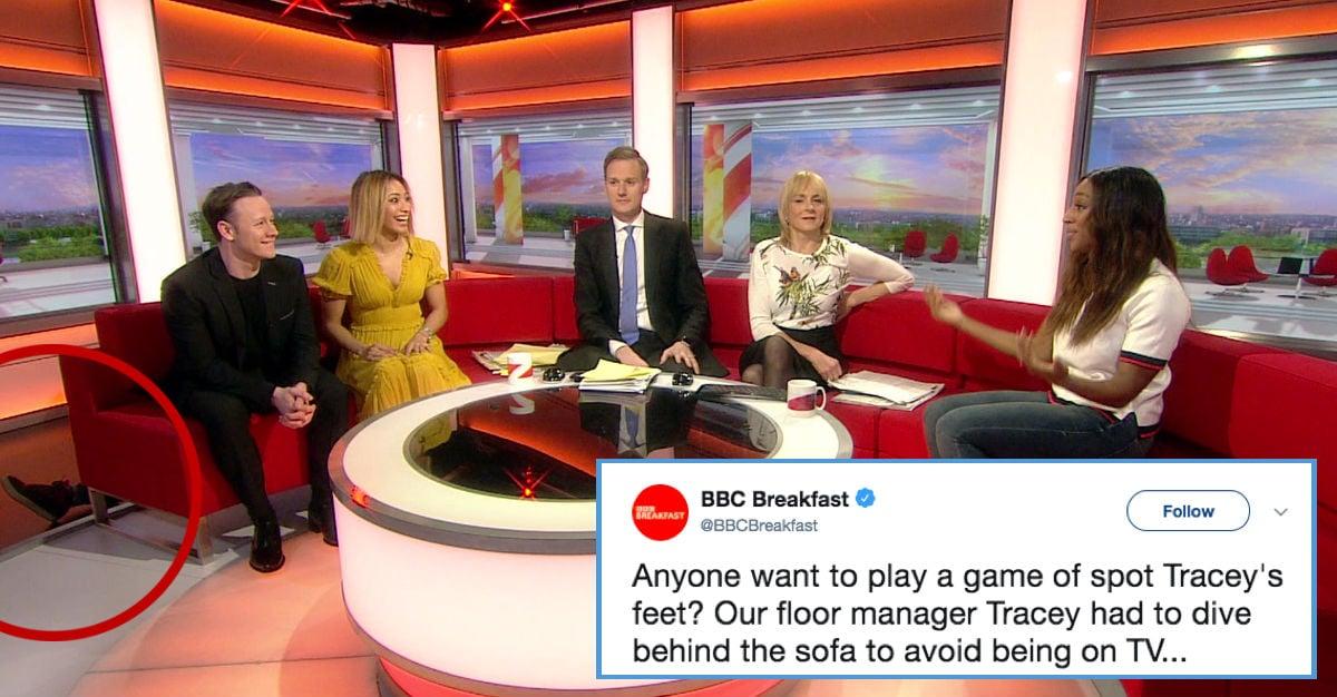 bbc breakfast crew member caught on camera