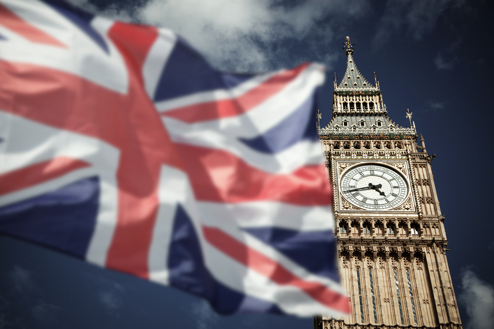 britain flag big ben